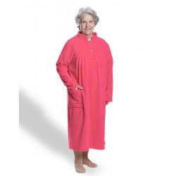 Robe de chambre polaire modèle femme médicalisée