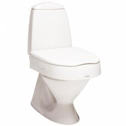 Rehausse toilette réglable en hauteur avec couvercle, sans accoudoirs