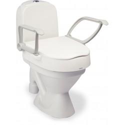Rehausse toilette réglable en hauteur avec couvercle et accoudoirs