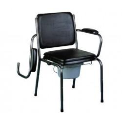 Chaise perçée fixe à hauteur réglable et avec accoudoirs escamotables